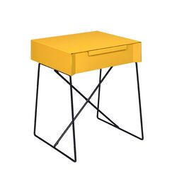 Emig 1-Drawer End Table with Storage Table Top Color: Yellow