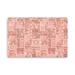 Houston Patchwork Indoor/Outdoor Doormat Color: Peach, Mat Size: Rectangle 2'6