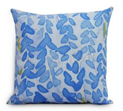 Quarterman Flower Throw Pillow Color: Blue, Size: Large, Location: Outdoor