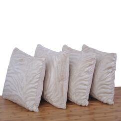 Mullis Embossed Pillow Cover Color: Ivory