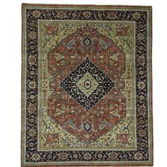 One-of-a-Kind Salzman Re-creation Hand-Knotted Red/Green Area Rug