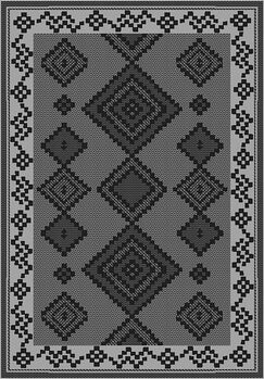 Tubbs Gray Indoor/Outdoor Area Rug Rug Size: Rectangle 5'3