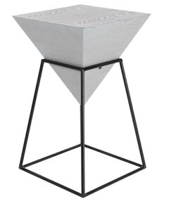 Perryville Pyramid End Table Color: Gray