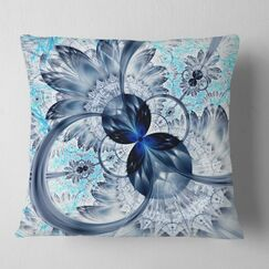 Abstract Fractal Flower Pillow Size: 26