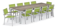 Maclin 11 Piece Dining Set Color: Gray, Accessory Color: Go Green Sling