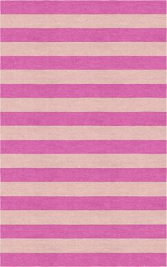 Catumba Stripe Hand-Tufted Wool Pink/Peach Area Rug Rug Size: Rectangle 8' x 10'