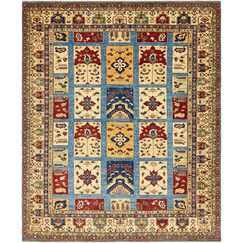 One-of-a-Kind Denver Hand-Knotted Wool Cream Area Rug