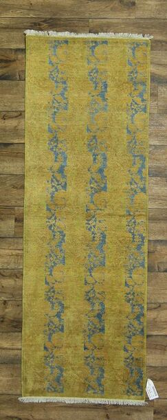 One-of-a-Kind Miranda Oriental Hand-Knotted Wool Green Area Rug