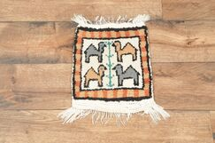 One-of-a-Kind Lam Oriental Hand-Woven Wool Beige/Ivory Area Rug