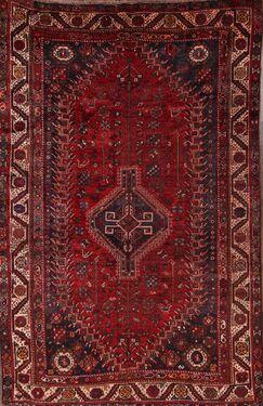 One-of-a-Kind Ghashghaei Shiraz Persian Hand-Knotted 5'6