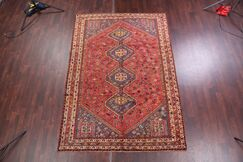 One-of-a-Kind Marotta Genuine Shiraz Vintage Persian Traditional Hand-Knotted 7'1