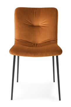 Annie Soft - Upholstered Wooden Chair Frame Color: Walnut Ash Wood, Upholstery Color: Brick Red Venice