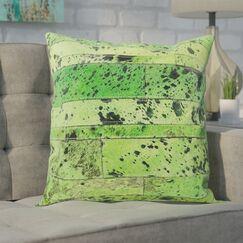 Bergan Leather Throw Pillow Color: Apple Green