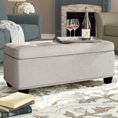 Hawley Storage Ottoman Upholstery: Oatmeal