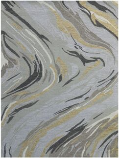 Konkol Hand-Tufted Wool Platinum Area Rug Rug Size: Rectangle 2' x 3'