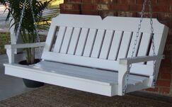 Paramkusham Victorian Style Porch Swing Finish: Zinc Plated/Galvanized, Size: 24