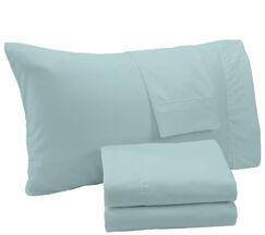 Aurik Extra Soft Solid Microfiber Sheet Set Color: Ether Blue, Size: King