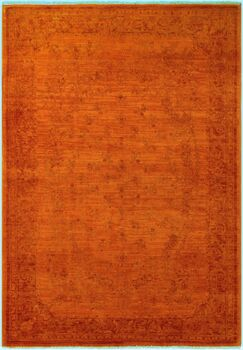 One-of-a-Kind Mcewen Hand-Knotted Wool Orange/Red Area Rug