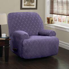 Jumbo T-Cushion Recliner Slipcover Upholstery: Grape