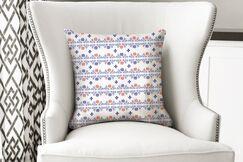 Macdonald Flower Hatch Bright Throw Pillow Size: 18