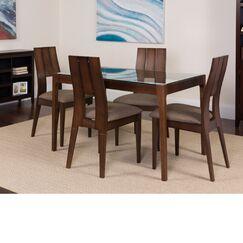 Huseman 5 Piece Solid Wood Dining Set Color: Espresso