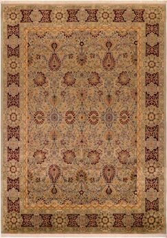 One-of-a-Kind Delron Lahore Hand-Knotted Wool Gray/Red Area Rug