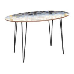 Earlville Dining Table Base Color: Black, Top Color: Walnut