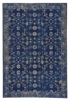 Reardon Keshan Wool Dark Blue Area Rug Rug Size: Rectangle 6'7