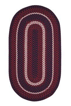 Wieland Hand-Braided Red Area Rug Rug Size: Rectangle 3' x 5'