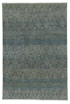 Whetzel Hand-Knotted Wool Azure Area Rug Rug Size: Rectangle 9' x 12'