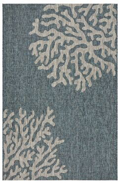 Christiane Reef Blue/Gray Indoor/Outdoor Area Rug Rug Size: Rectangle 5' x 7'