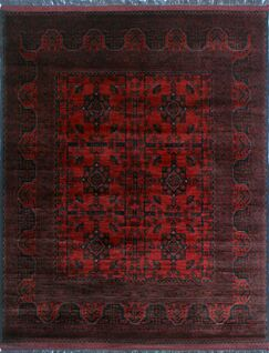 One-of-a-Kind Millar Sisi Hand-Knotted Wool Red Are Rug