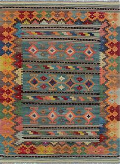 One-of-a-Kind Renita Kilim Hand-woven Wool Brown/Blue Area Rug