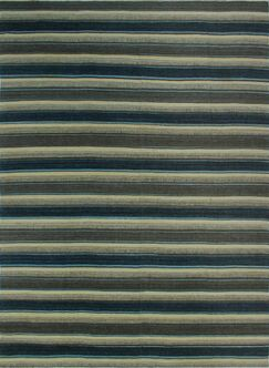 One-of-a-Kind Deb Kilim Hand-Woven Beige/Blue Are Rug