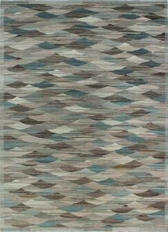 One-of-a-Kind Deb Kilim Hand-Woven Gray Are Rug