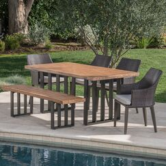 6 Piece Dining Set with Cushions
