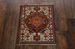 One-of-a-Kind Mingus Russian Oriental Hand-Knotted Wool Brown Area Rug