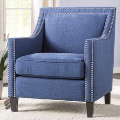 Rotterdam Armchair Upholstery: Blue