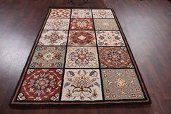 Broadview Bakhtiari Agra Indian Oriental Hand-Tufted Wool Red/Burgundy Area Rug