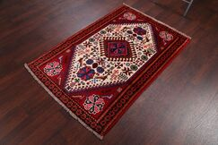 One-of-a-Kind Genuine Shiraz Persian Hand-Knotted 3'3