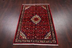 One-of-a-Kind Hamedan Persian Hand-Knotted 3'4