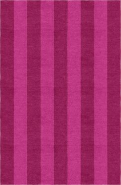 Reams Stripe Hand-Woven Wool Magenta/Pink Area Rug Rug Size: Rectangle 8' x 10'