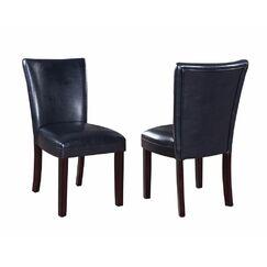 Komarek Genuine Leather Upholstered Dining Chair Upholstery Color: Black