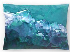 Water Crystals Lumbar Pillow Size: 10