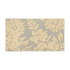 Rainville Ivory/Gray Area Rug Rug Size: Rectangle 2'8
