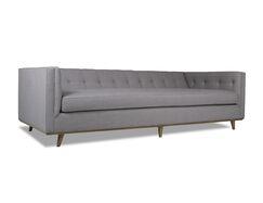 Eaddy Plush Deep Sofa Upholstery: Gray