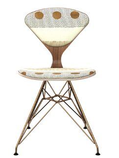 Blakney Dining Chair Frame Color: Walnut/Brass