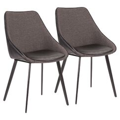 Patino Upholstered Dining Chair Upholstery Color: Black/Gray