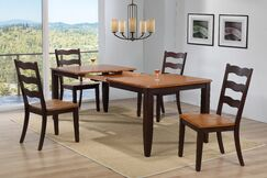 Muldowney Extendable 5 Piece Solid Wood Dining Set Color: Whiskey/Mocha