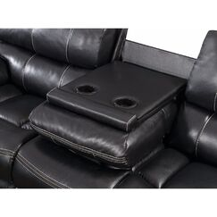 Elio Wooden Motion Sofa Upholstery: Black